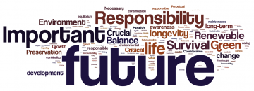 """Engineering Students:  A word evoked by """"Sustainability"""""""